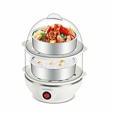 Multi-Function Double Layer Electric Egg Boiler Cooker Food Steamer 2 Layer