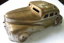 Vtg Brass BETEL Box CAR Shape Hinged roof AUTOMOBILE DISPLAY NO TRAY copper
