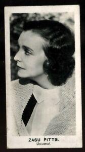 Tobacco Card, Walkers, FILM STARS, 1935, Zasu Pitts