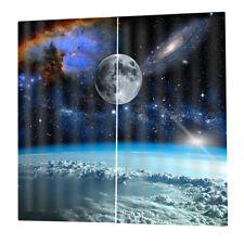 2 Pcs/Panels Digital Printing Window Curtain Drapes for Bedroom Living Room