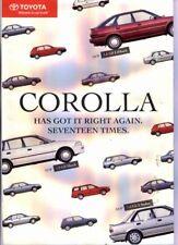 1991 TOYOTA E90 COROLLA Range New Zealand 8p Brochure GTi HATCH etc
