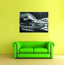 Technics Sl 1210 Scratch DJ Decks Turntables Giant New Art Print Poster