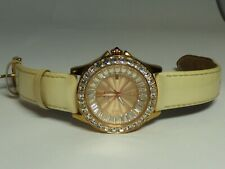 Betsey Johnson Face Gold Tone Watch W/ Crystals