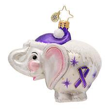 Christopher Radko - Ellie - Elephant - Alzheimer's Awareness - Ornament 1016955