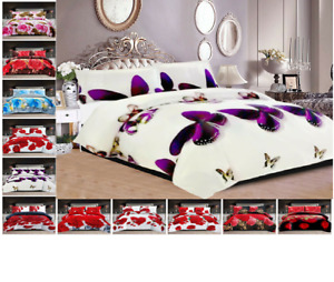 3D Effect Complete  Set With Fitted Sheet and Matching Pillow Cases