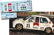 Decal 1:43 Ramon Ferreyros - PEUGEOT 106 - Rally El Corte Ingles 1997