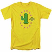 Clarence Freedom Cactus T Shirt Mens Licensed Cartoon Merchandise Yellow