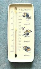 Wedgwood Peter Rabbit Bunny Easter Indoor Hanging Wall Thermometer 2001