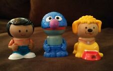 Lot Sesame Street Play Town Wood Plastic Figurines Grover Dog puppy, and boy