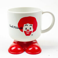 McDonald's: Vintage Ronald McDonald Plastic Footed Cup - Red/White   USED