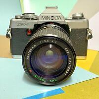 Minolta XG 1 35mm Slr Film Camera W/ Zoom 35-105mm F/3.5-4.3 Lens Working Lomo!