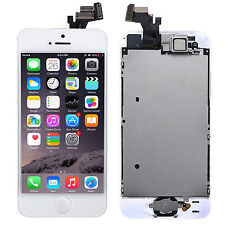 For iPhone 5 5G White Touch Screen Digitizer LCD Display Home Button Camera MBKT