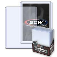 "100 3"" x 4"" BCW Std Topload Holders Sport/Trading/Gaming Cards Toploaders 12 mil"