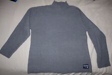 NWOT Mens Large AEROPOSTALE Mock Neck Pullover Sweater Gray Thick Ribbed