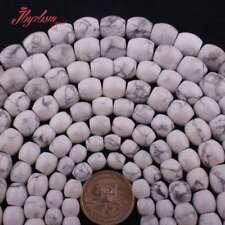 """Tambor Blanco Howlite Turquesa Piedra espaciador granos flojos para la fabricación de joyería 15""""hágalo usted mismo"""