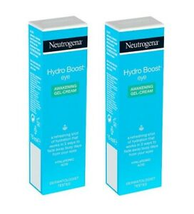 Neutrogena Hydro Boost Eye Awakening Gel Cream, 15 ml (0.5 Oz) (Pack of 2)