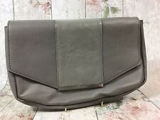 Walter Baker Leather Clutch Two Tone Grey Purse Bag