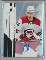 18-19 Upper Deck Premier Rookie Autograph AUTO 51 Jake Bean Carolina Hurricanes