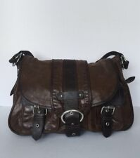 Barney s New York Brown Leather Satchel 83a642796ad94