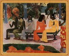Ta Matete - Der Markt Paul Gauguin ägyptisch Frauen Parkbank LW H A2 0399