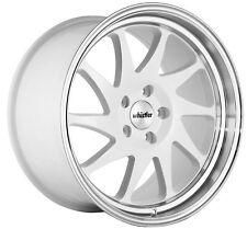 Whistler KR7 18x9.5 Rims 5x114.3 +35 White Wheels Fits 350z G35 240sx Rx8 Rx7