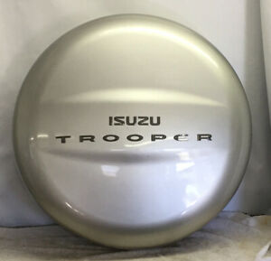 1998-2002 ISUZU TROOPER OEM REAR SPARE TIRE COVER SHELL W/ SCRATCHES SILVER GREY