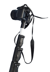 BROGE 10-metre pole mast with Panasonic DC-FZ82 camera for aerial photography