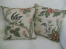 "ASHBY BY TITLEY & MARR 1 PAIR OF 18"" CUSHION COVERS - DOUBLE SIDED & PIPED"