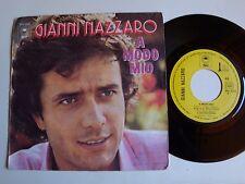 """GIANNI NAZZARO : A modo mio / Un'altra America 7"""" 45T 1974 French EPIC EPC 2228"""