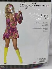 Hippy Girl Women's Costume Medium Large Multicolor Dress Halloween NEW 1388