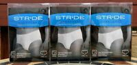 Lot of 3 STRIDE EVERYDAY Mens XL BLACK Washable Incontinence BRIEF Underwear
