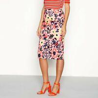 Gorgeous JASPER CONRAN Floral Print Pencil Skirt Pink Midi ~BNWT~10, 12, 14, 16