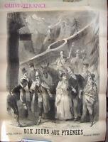 AFFICHE Operette Dix Jours aux Pyrénées de Varney 1888 par LE MARESQUIER