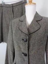 Apt 9 Tweed Career Skirt Suit Womens sz 10 Black White Speckled 31W NWT $100
