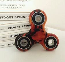 Fire Flame Print Tri Fidget Hand Finger Spinner EDC Desk Toy Stress Autism