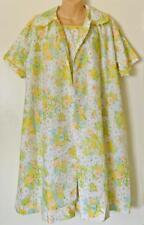 Katz Retro Flower Power Lightweight Robe/House Coat & Gown Set M New Vintage