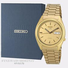 Authentic Seiko Men's Automatic Gold Tone Stainless Steel Watch SNXL72