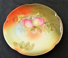 """Vintage J&C BAVARIA Germany Hand Painted by A. KOCH PEACHES Pattern 9"""" Plate"""