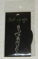 Tibetan Silver Large Hanging Skeleton Pendant & Necklace