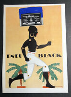 Eneu Johnson Printing Inks Varnish Poster Sign Original 1927 Black Memorabilia