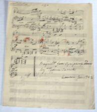 """""""CRAKOV TRUMPET CALL"""": 1942 MANUSCRIPT fragment SYMPHONIC POEM SIGNED by JARECKI"""