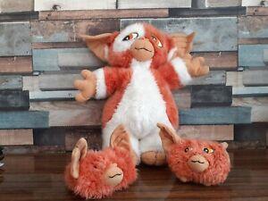 Gremlins 2 the new batch Gizmo Soft toy + 2 Baby Mogwai Hornby 1991