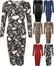 Plus Size Long Sleeve Full Length Tunic Dresses for Women