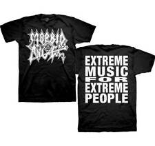 Morbid Angel - WHITE LOGO EXTREME MUSIC - T-shirt - Size Small S - DEATH METAL