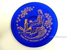 More details for limited edition orrefors/rörstrand designer glass plate boxed mother's day 1971