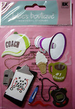 NEW 8 pc  COACH Cap Clipboard Stopwatch Whistle Sports Bullhorn JOLEE'S Stickers