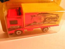 "Matchbox 1995 #23 VOLVO CONTAINER TRUCK orange & yellow ""get into the fast lane"""