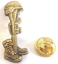 FALLEN SOLDIER Battlefield Cross Military Marines Hat Jacket Tie Tack Lapel Pin