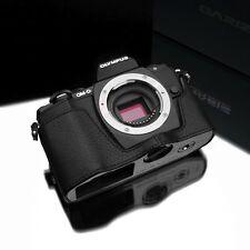 GARIZ Leather Case for Olympus OMD EM10 E-M10 MKII XS-CHEM10BK Black