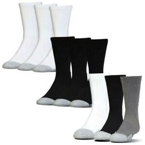 Under Armour Mens HeatGear Crew Socks 3 Pairs - UA Golf Gym Training Running